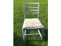 Handpainted upholstered chair