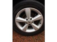 Nissan qashqai 5x114.3 alloys and tyres fit Toyota RAV4 etc