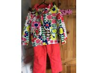 Boden ..Girls winter/ski jacket with matching salopettes