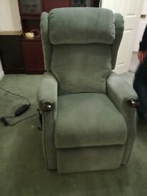 Mobility Upholstered Green Chair with Light