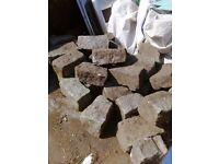 7 meters granite edging/blocks