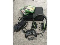 Xbox One 500GB Black, 3 Games, Wireless Controller and Turtle Beach XO Four Headset with Adapter