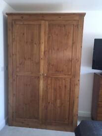 Oak wood big double wardrobe