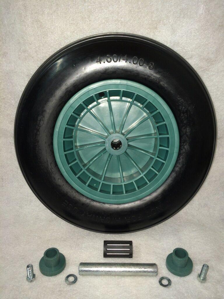 Schubkarrenrad, Ersatz-Rad,Reifen mit Achse