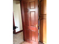 6 Internal doors with door furniture.