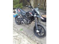 KSR TW125 Supermoto as new with less than 900 miles