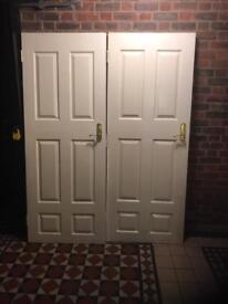 2 fire proof doors