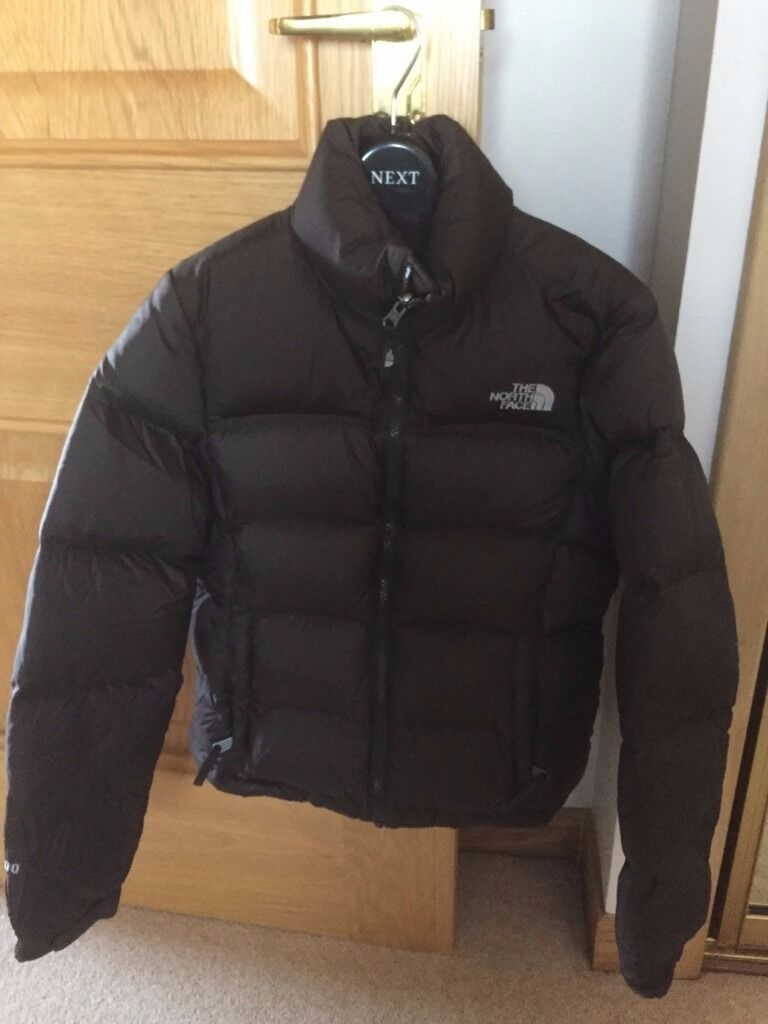 WOMENS THE NORTH FACE NUPTSE 700 DOWN PADDED BROWN PUFFA PUFFER ...
