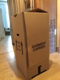 Moving home garment carrier boxes