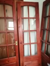 Internal glazed doors four currently used as bifold All fittings good condition collect only