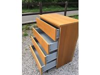 large 4 draw chest of drawers