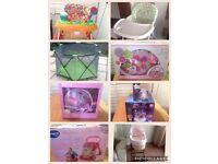 Sterilizer+ electric bottle warm+ 2 baby walker+ Playpen+ playmat+ Highchair+ Moses basket + stand
