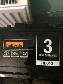 Halfords Car Battery