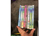 8x peppa pig dvds