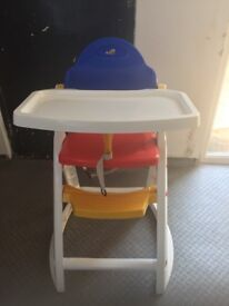 BABY HIGH CHAIR STOOL INFANT FEEDING CHILDREN TODDLER RESTAURANT - EXCELLENT CONDITION
