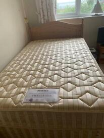 Myers 4ft (small double) divan bed with drawer and headboard