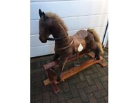 Child's old fashioned rocking horse
