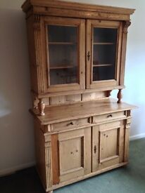 Lovely Antique dresser for sale. Glass display front and well maintained. Offers accepted.