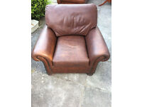 Brown Leather John Lewis Blakelands Armchair