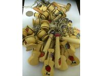 Wood hand carved key chains rings bundle wholesale
