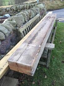 Old reclaimed pine beam 2206 x 270 x 150