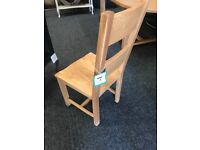 Brand new six solid oak chairs-£360 for all
