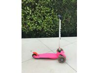 Mini Micro 3in1 Scooter Pink with seat