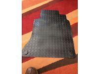 Rubber front floor mats