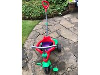 Trike with removable parent handle