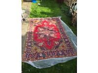 Persian Wool Oriental Rug Antique Carpet 9x6 ft Rugs