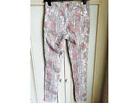 H&M size 16 paisley trousers