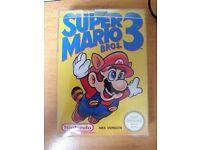 NES Nintendo Super Mario Bros 3 with manual & protector