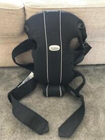 Black cotton babybjorn carrier original
