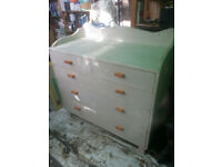 Upcycled, retro chest of drawers.