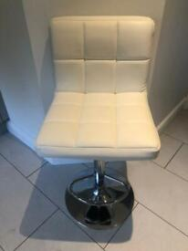 Leather bar stools White and Grey