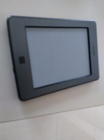 Amazon Kindle WiFi 6inch touch screen metallic grey eReader with usb charging cable