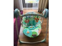 Bright Starts Baby Portable Swing USED