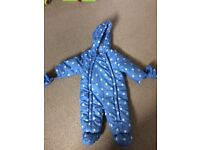 Baby all-in-one suit from John Lewis. 3-6 months.