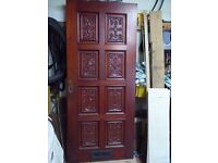 Front Door, mahogany carved
