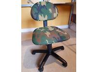 Kids swivel desk chair - height adjustable - £10
