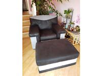 3 piece suite plus footstool - great condition - can deliver