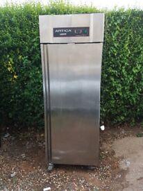 Artica ECO Lockhart stainless steel upright single door fridge