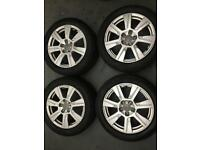 "Set of Genuine Original 17"" Audi Alloys Good Condition fit vw seat skoda"