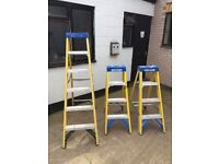 Werner step ladders x3 fibre glass electricians