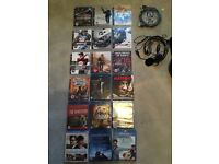 PS 3 games / blue Rays / headset