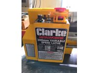 Clarke CL300 Metal Turning Lathe , (not chester myford warco)