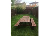 Large Picnic Patio Garden Bench and Table