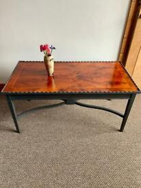 Large Elegant Upcycled Vintage Wooden Coffee Table in Panther Grey