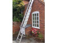 Triple aluminium ladders