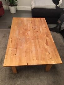 Great solid wood coffee table for sale